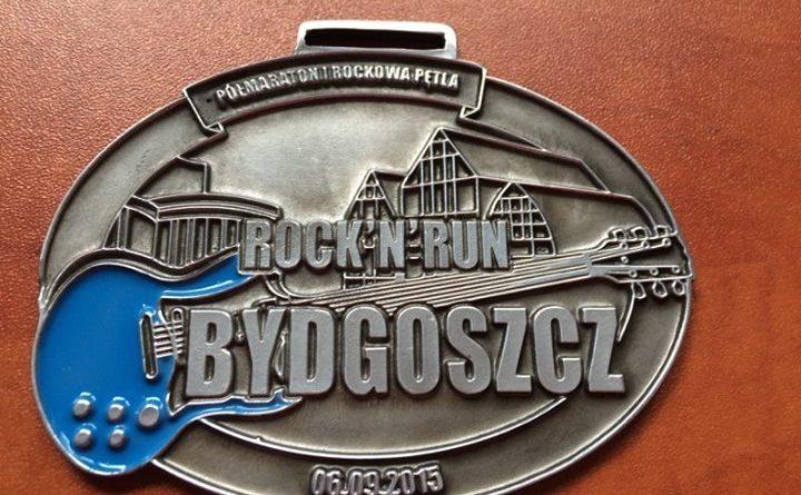 Medal półmaratonu Rock n Run Bydgoszcz